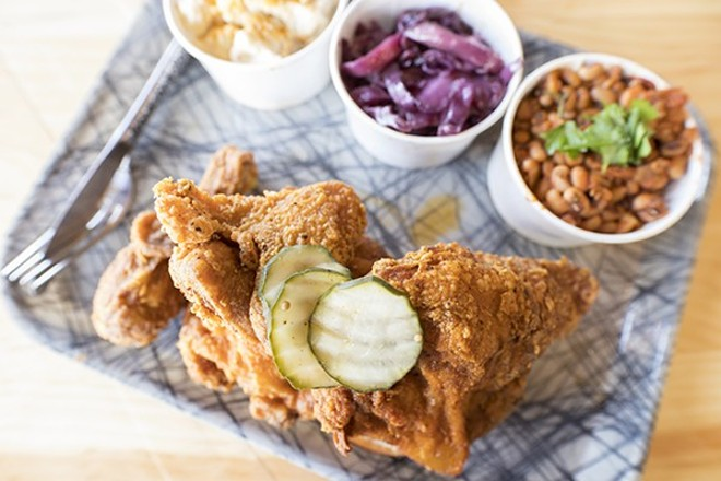 """Rick's Famous Fried Chicken"" is a highlight at Grace Meat + Three. - MABEL SUEN"