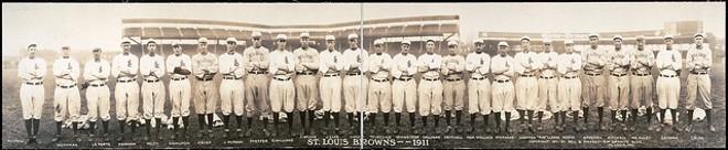 St. Louis Browns team in 1911 - PHOTO COURTESY OF ASHLEY VAN HAEFTEN / FLIKR