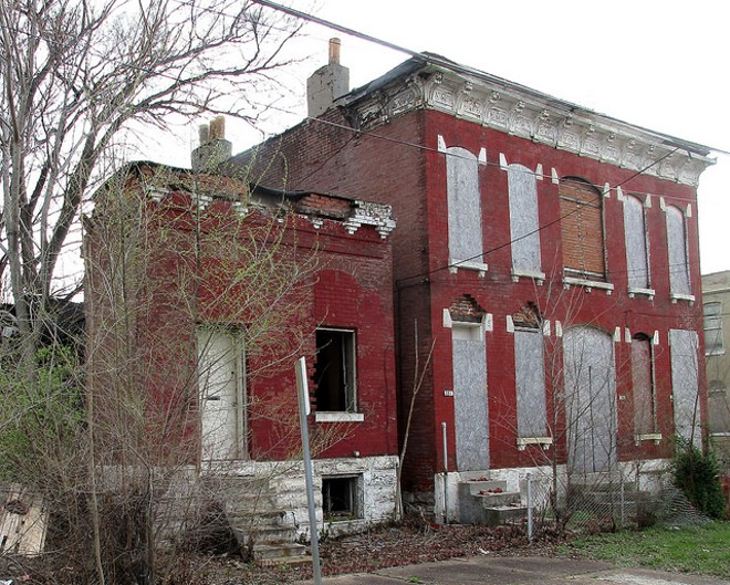 A vacant building in Carr Square. Such buildings cost the city and lead to blight. - FLICKR/*HAJEE