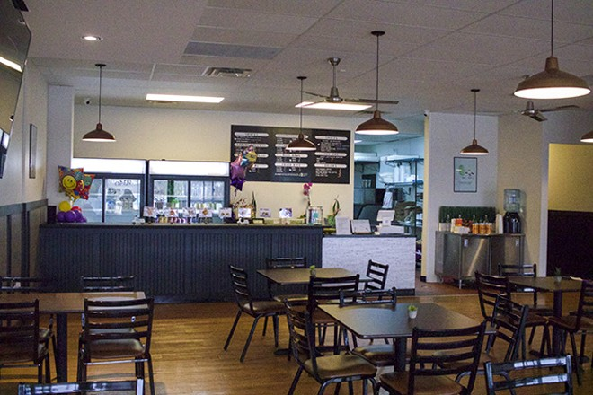 Guests can order food to-go or eat in the comfortable dining room. - CHERYL BAEHR