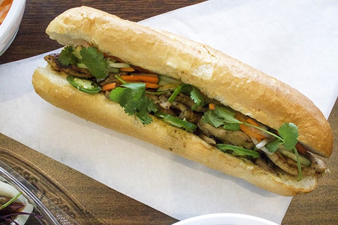 The banh mi with grilled chicken. - CHERYL BAEHR