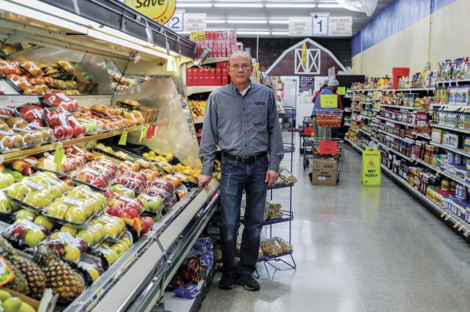 Tom Stelmacki's family runs a destination grocery adjacent to the Tower. - KELLY GLUECK