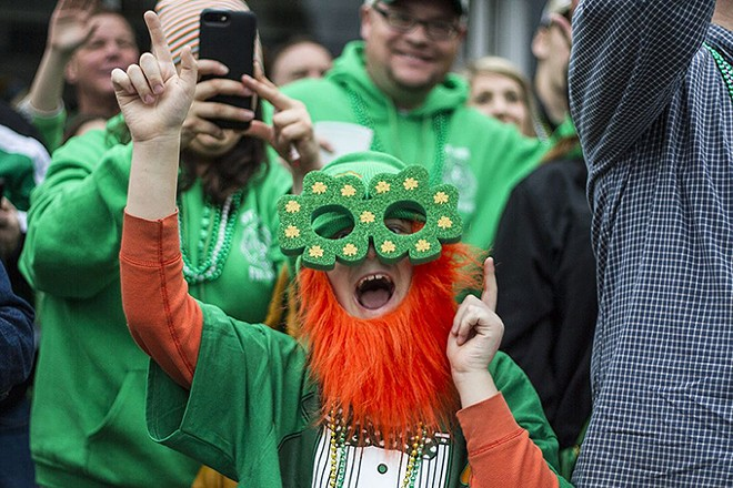 It's St. Patrick's Day twice on Saturday, party hard. - NICK SCHNELLE