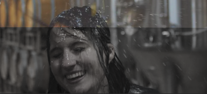 Alpha Brewing Co.'s website featured a woman being drenched in beer.