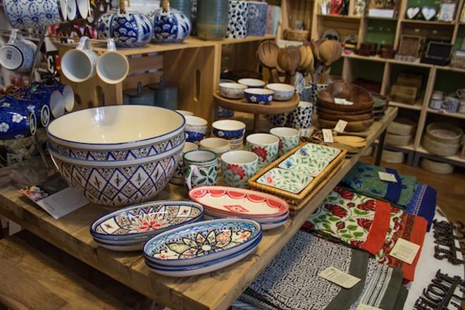 Zee Bee Market sells fair trade items. - SARA BANNOURA