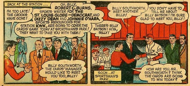 "Considering that Cardinals crushed the National League and won the  World Series in 1944 — against the St. Louis Browns, of all teams — the answer was probably ""You're goddam right we're going to win today."" - IMAGE VIA APOTHEOSIS COMICS"