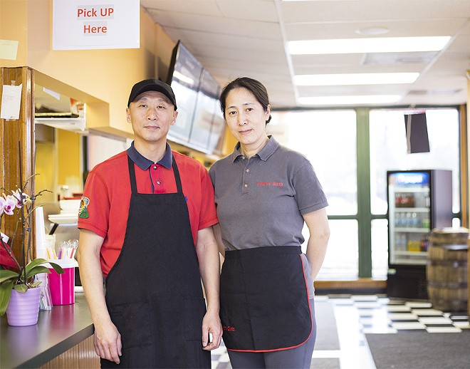 Co-owners Alex and Lily Liu. - MABEL SUEN