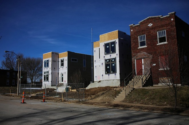 Construction in St. Louis' central corridor has still resulted in city schools getting the shaft thanks to tax incentives given to developers. - FLICKR/PAUL SABLEMAN