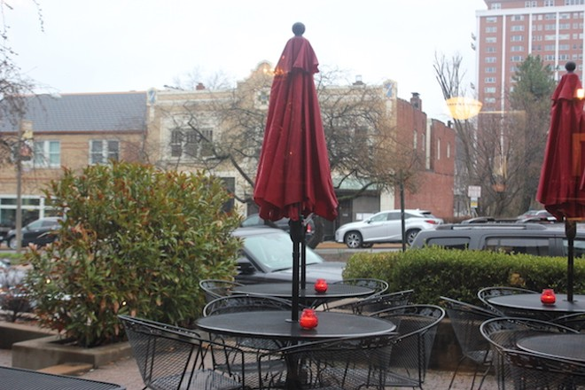 In nicer weather, the patio on Wydown will be one of the nicest spots in the city. - SARAH FENSKE