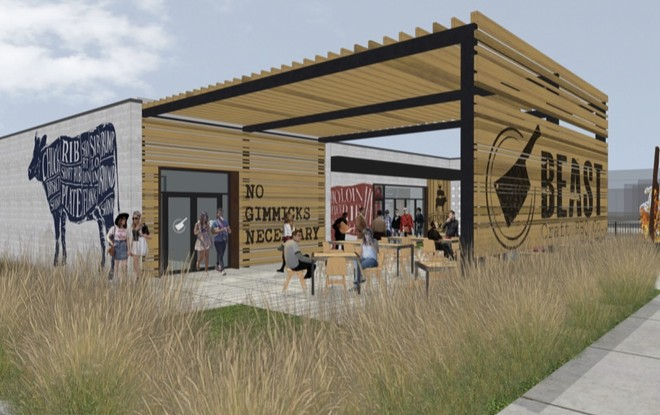 BEAST Butcher and Block will be located at 4156 Manchester, next to Atomic Cowboy. - JEMA ARCHITECTS