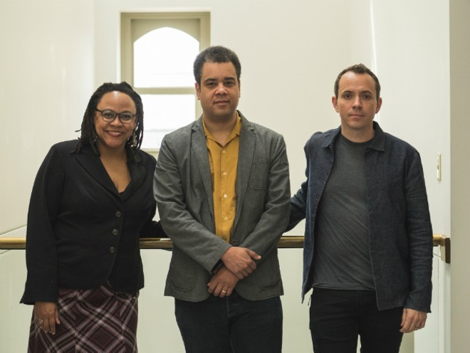 The curatorial team for Dwell in Other Futures: Rebecca Wanzo, Tim Portlock and Gavin Kroeber. - COURTESY OF WASHINGTON UNIVERSITY IN ST. LOUIS
