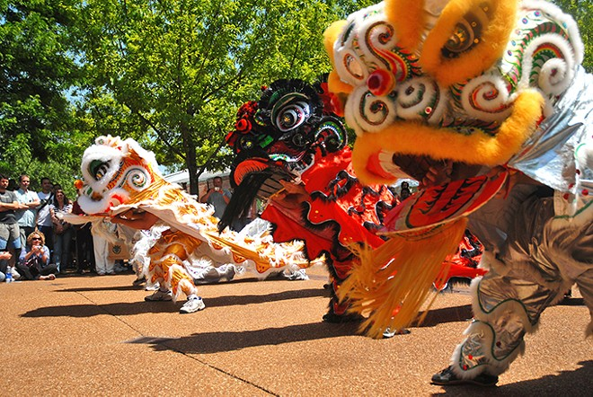 A big parade and a bigger dragon open Chinese Culture Days. - JOSH MONKEN COURTESY OF THE MISSOURI BOTANICAL GARDEN