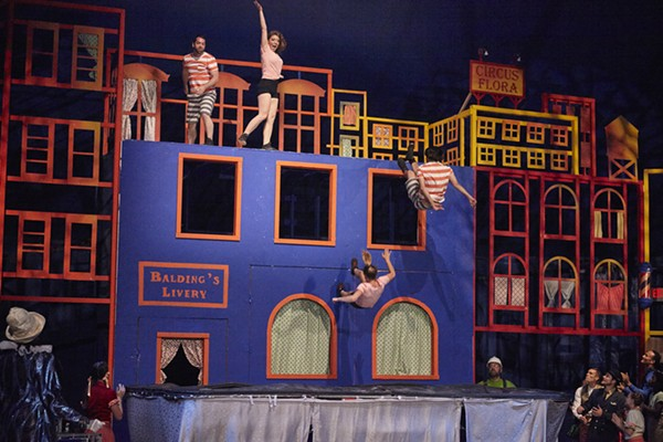 """This thing is described as a """"trampoline wall"""" and it looks exciting - PHOTO COURTESY OF CIRCUS FLORA"""