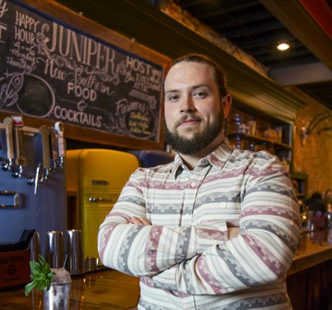 Juniper executive chef Glenister Wells found his destiny in the kitchen. - MATT SEIDEL