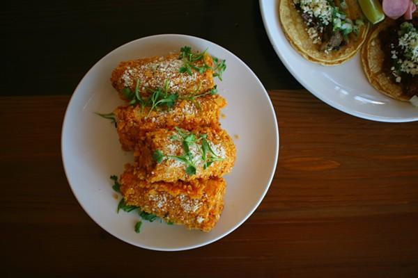Barrio's Mexican street corn is a secret recipe. - CHERYL BAEHR