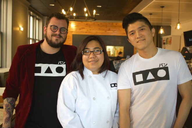 General manager Ben Bauer, executive chef Nisa York and owner RJ Xu. - CHERYL BAEHR