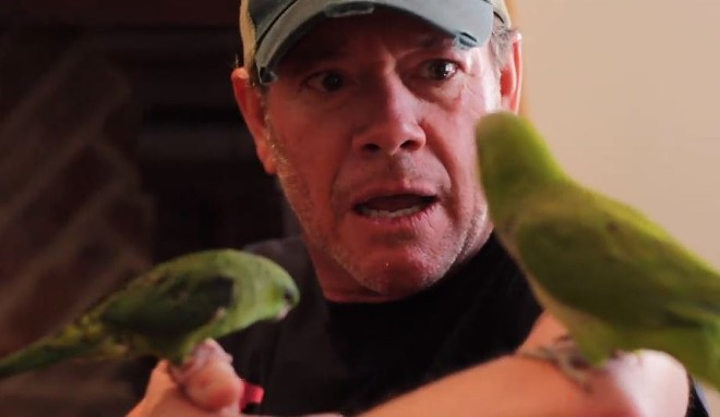 In a recent video, Jamie Allman got pecked by a bird. A very clever metaphor. (Tweeting, get it?) - SCREENSHOT VIA FACEBOOK