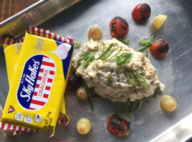 Guerilla Street Food's smoked mlikfish dip echoes the smoked fish dips served in Louisiana. - SARAH FENSKE