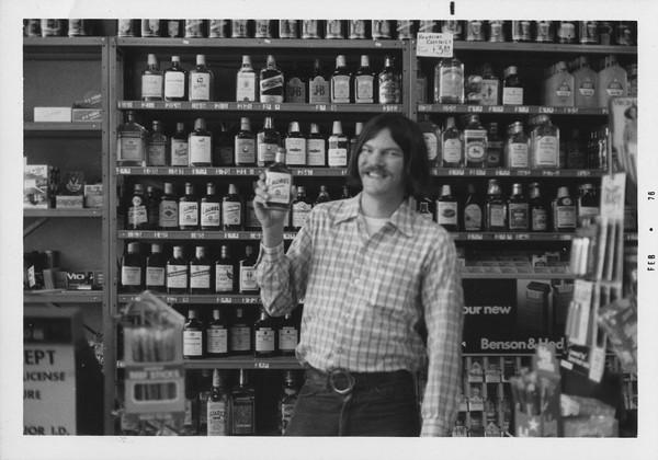 Bruce Cole in a liquor store, circa 1976. - VIA JASON ROSS