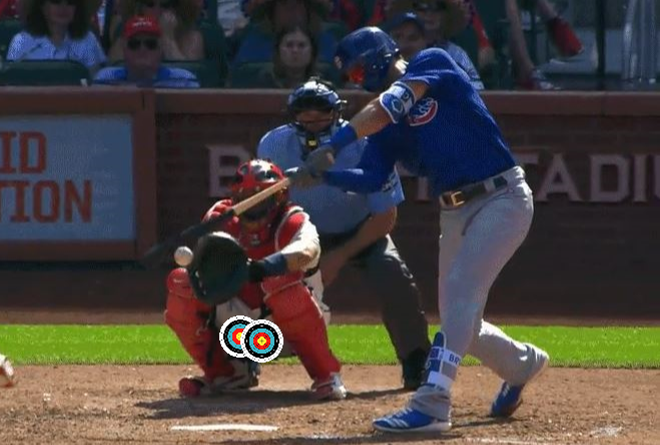 Tragically, that foul tip is not destined for Yadi's glove. - SCREENSHOT VIA DEADSPIN/PHOTO ILLUSTRATION VIA DANNY WICENTOWSKI