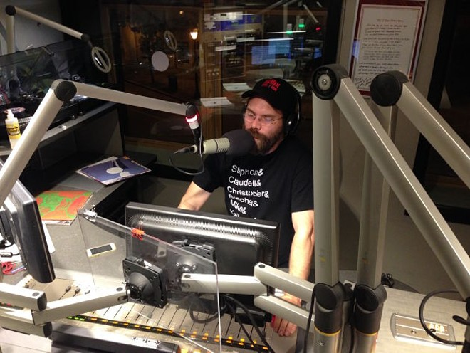 Nathanial Farrell's KDHX show, airing Tuesday nights, features a wide mix of genres. - JESSICA BARAN