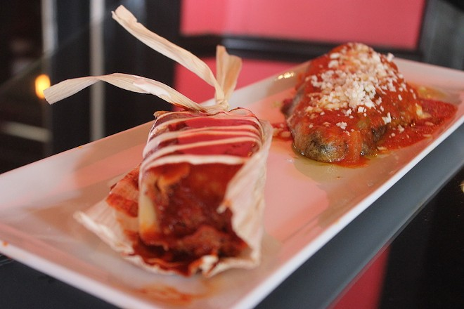 Tamales and chiles rellenos may both be ordered a la carte. - SARAH FENSKE