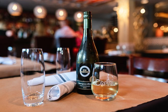 The extensive wine list aims for an affordable price point. - SPENCER PERNIKOFF