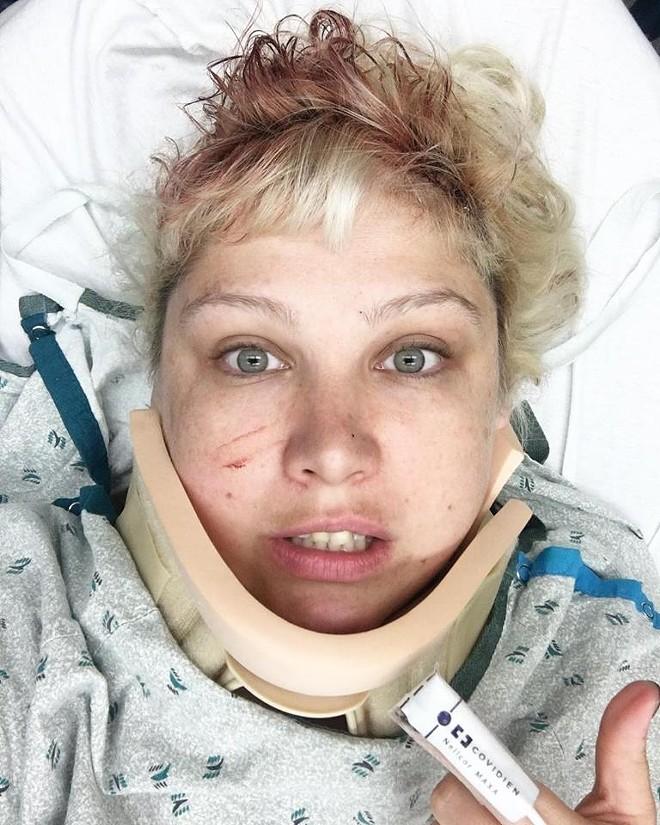 Hospital selfie, the most dreaded of all selfies. - VIA MORGAN NUSBAUM
