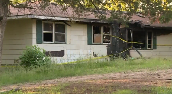 Believe it or not it all started over a house fire. - SCREENSHOT FROM FOX 2'S REPORT