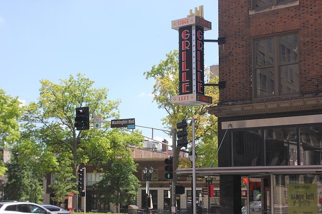 That big sign out front did change — previously reading Stage Left Diner, it now says Stage Left Grille. - SARAH FENSKE