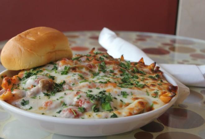 Penne serves as the base for the restaurant's pasta offerings. - SARAH FENSKE