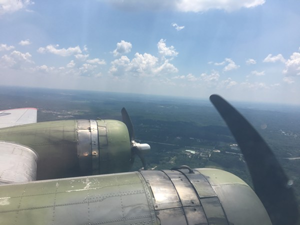 Two engines on each wing. - PHOTO BY SARAH WRIGHT