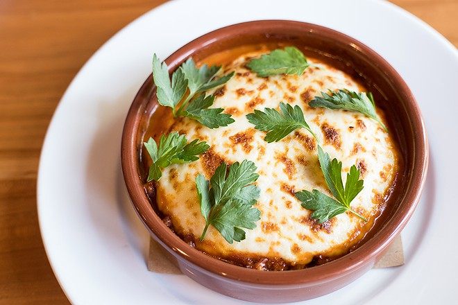 Roman gnocco is baked with pork ragu, bechamel and pecorino. - MABEL SUEN