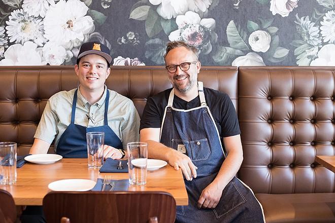 Head chef Sean Turner and owner Matt McGuire. - MABEL SUEN