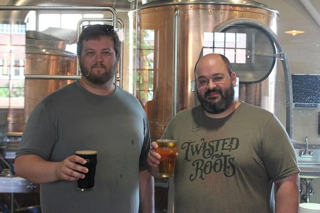 Co-owners Kris Wangelin, left, and Adam Patterson. - SARAH FENSKE