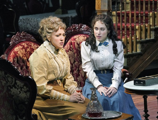 Birdie (Susanna Phillips) and Alexandra (Monica Dewey) seek a respite from their awful relatives. - (C) KEN HOWARD