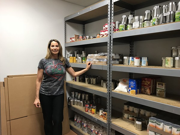 Millner says getting donations can be difficult because the healthy resources nonprofit exclusively offers healthy foods. - CAMILLE RESPESS