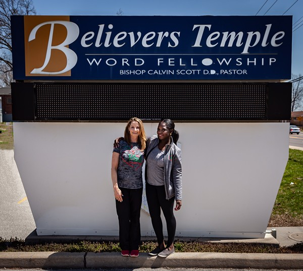 The Fit and Food Connection co-directors Joy Millner (left) and Gabi Cole began partnering with Believers Temple in early 2018. They moved FAFC into the church in May. - RICK MILLER PHOTOGRAPHY