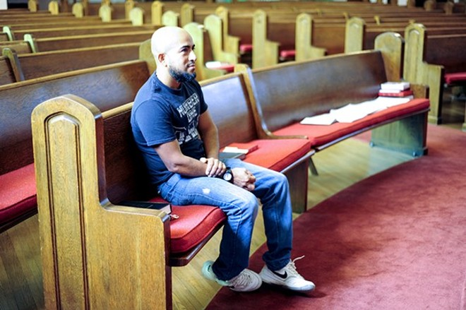 Alex Garcia has defied ICE to live in a Maplewood church since September 2017. - KELLY GLUECK