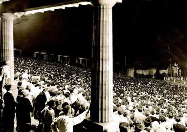 The view from the Muny's free seats in 1921. - THE MUNY ARCHIVE