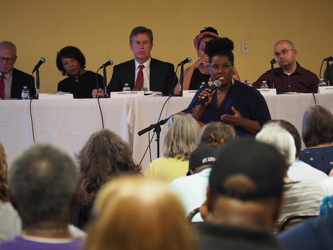 Sonya Pointer speaks out against a TIF project proposed for University City. - ALISON GOLD