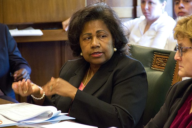 Comptroller Darlene Green was the only no vote on today's contract approval. - DANNY WICENTOWSKI