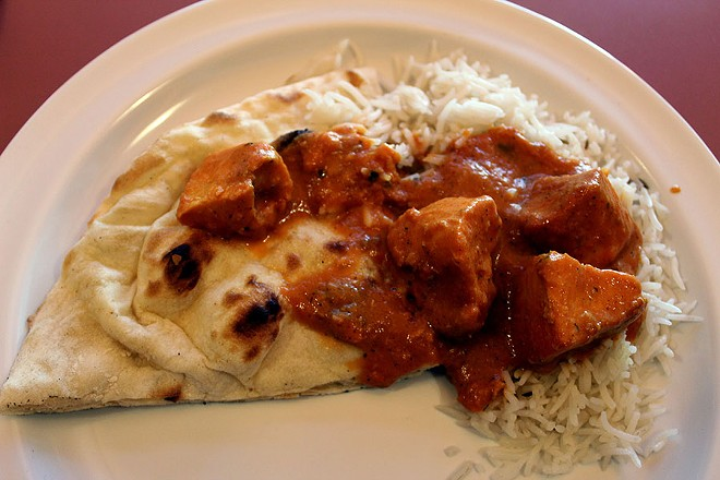 The chicken tikka masala, a popular dish in many Indian restaurants. - LEXIE MILLER