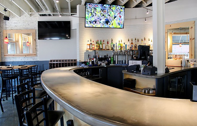 You can catch a game at the bar, or just have a drink. - LEXIE MILLER