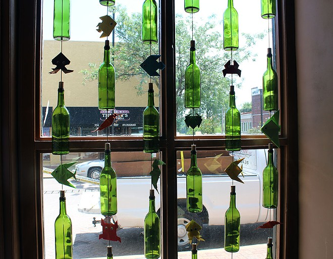 Green glass provides a pop of color. - LEXIE MILLER