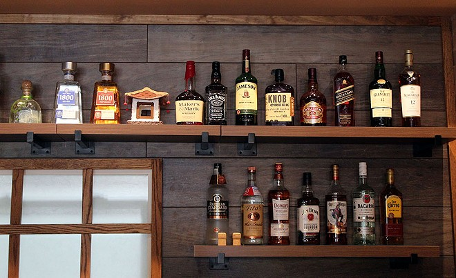 The Red Sun has a full bar with many wines, a house sake and mixed drinks. - LEXIE MILLER