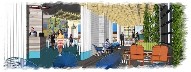 An artist's rendering of Shark Bar at Ballpark Village - COURTESY OF CORDISH COMPANIES