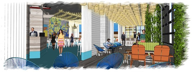 An artist's rendering of Shark Bar at Ballpark Village - COURTESY OF CORDISH COMPANIES