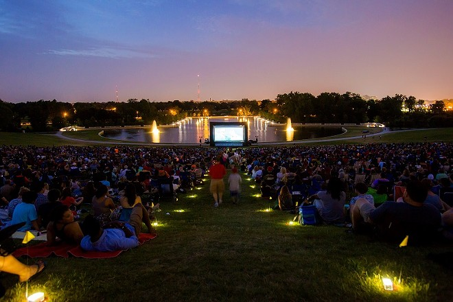 The movies go outside in Forest Park during the Art Hill Film Series. - COURTESY OF SAINT LOUIS ART MUSEUM