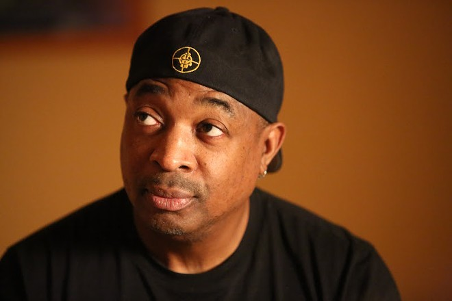 "Chuck D, who famously rapped ""Elvis was a hero to most, but he never meant shit to me,"" in Public Enemy's ""Fight the Power"" saw Elvis as an appropriator of black culture. - DAVID KUHN, COURTESY OF OSCILLOSCOPE LABORATORIES"